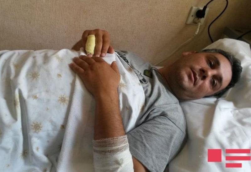 Раненый сотрудник полиции прокомментировал инцидент в Гяндже