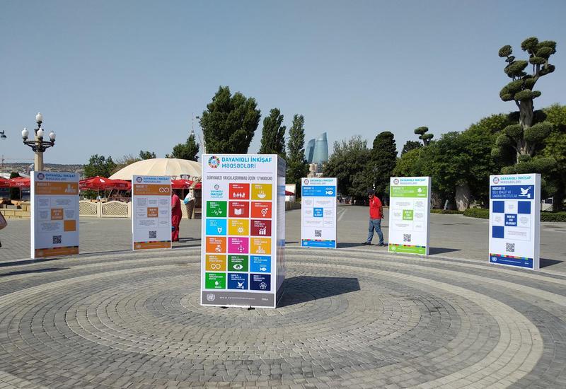 На Бакинском бульваре открылись стенды, посвященные Целям устойчивого развития