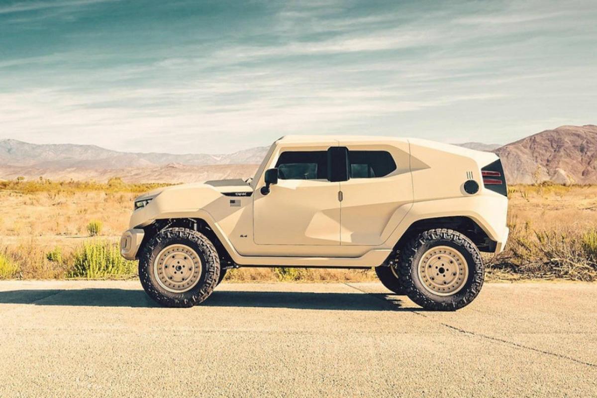 По дизайну уроженца Гянджи американцы выпустили военную версию внедорожника Tank - ФОТО