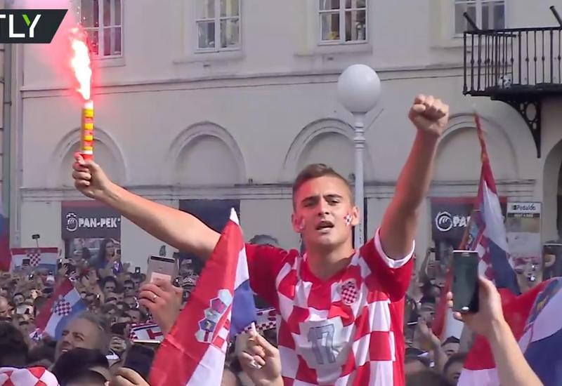 """Так болельщики в Загребе поддерживали сборную Хорватии <span class=""""color_red"""">- ВИДЕО</span>"""