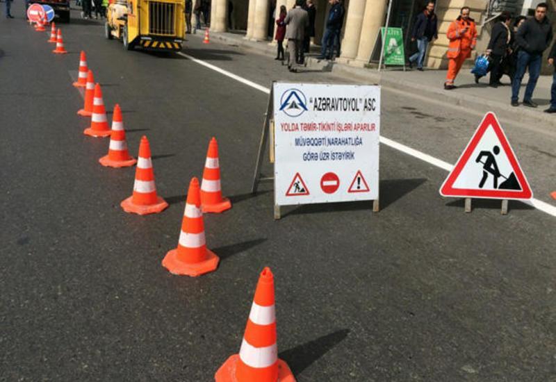 На участке автотрассы Баку-Сумгайыт обновят дорожную разметку