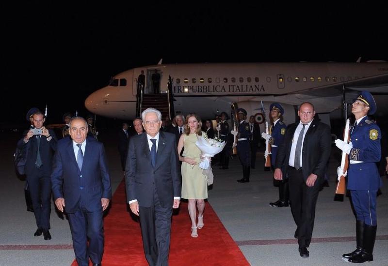 """Президент Италии Серджо Маттарелла прибыл с официальным визитом в Азербайджан <span class=""""color_red"""">- ФОТО</span>"""