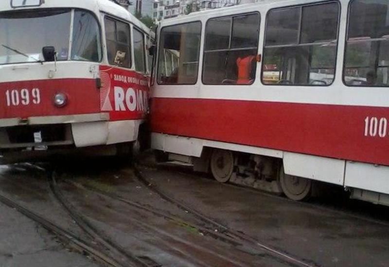 В России столкнулись трамваи, есть пострадавшие