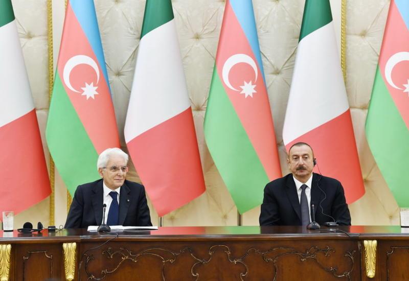 Серджо Маттарелла: Италия поддерживает борьбу Азербайджана с угрозами, порождаемыми радикализмом