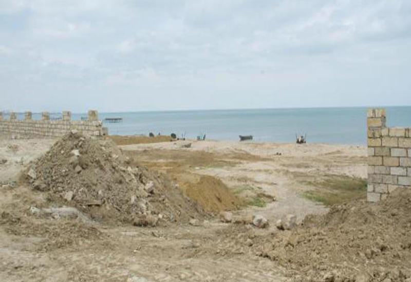 На Каспийском побережье остановлены незаконные строительные работы