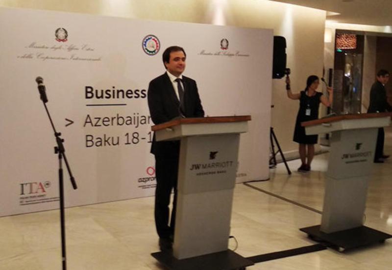 Азербайджан хочет расширить экономическое сотрудничество с Италией