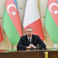 Президент Ильхам Алиев: Мы уверены в том, что Италия сыграет активную роль в деле урегулирования нагорно-карабахского конфликта