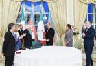 """Президент Ильхам Алиев и Первая леди Мехрибан Алиева награждены высочайшими правительственными наградами Италии <span class=""""color_red"""">- ФОТО</span>"""
