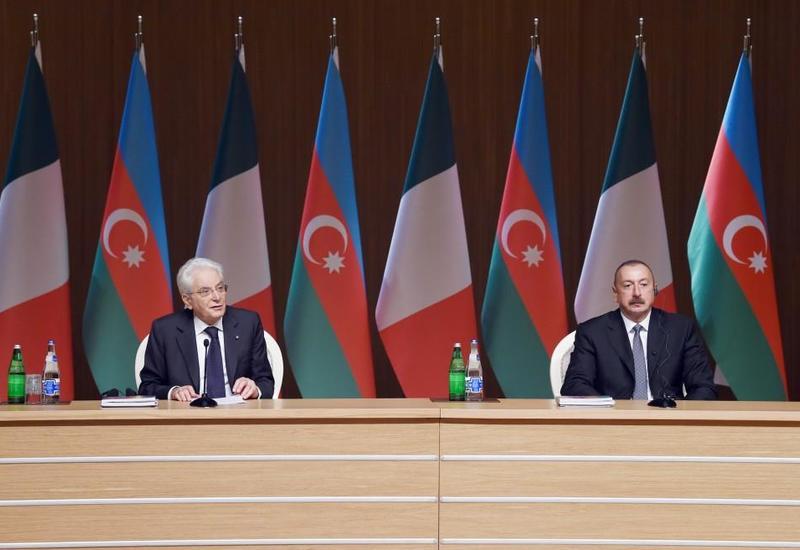 Серджо Маттарелла: Италия может стать надежным партнером Азербайджана не только в сфере торговли