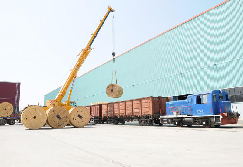 """Сумгайытский технопарк поставил крупную партию высоковольтного кабеля в Казахстан <span class=""""color_red"""">- ФОТО</span>"""