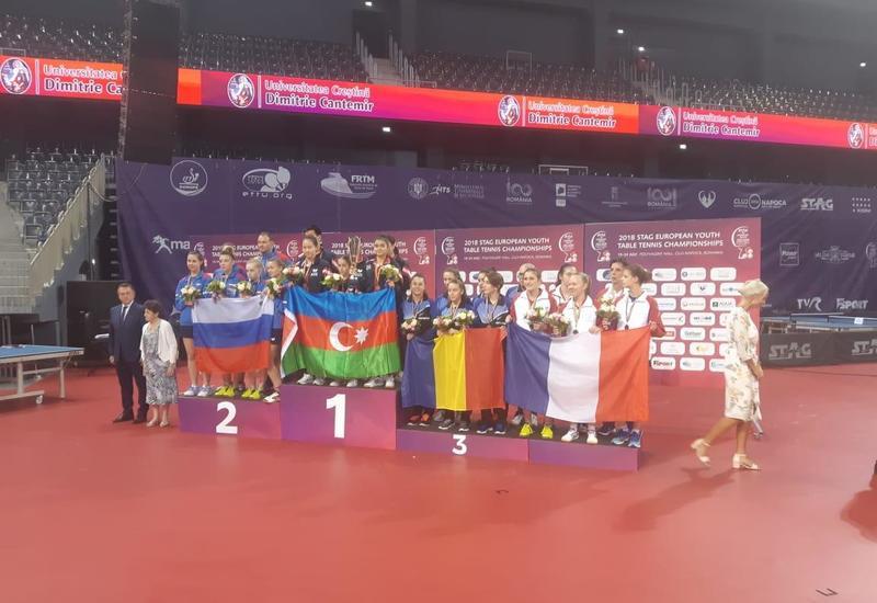 Азербайджанские теннисистки стали первыми на чемпионате Европы в Румынии