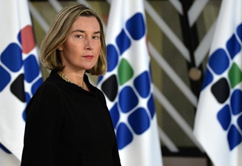"""Могерини заявила о вкладе ЕС в обеспечение безопасности """"Белых касок"""""""