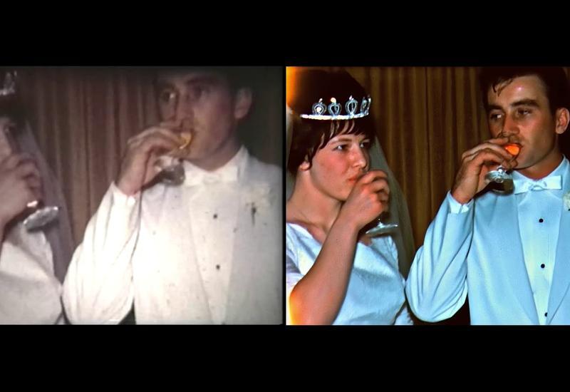 Потрясающая реставрация старого свадебного видео