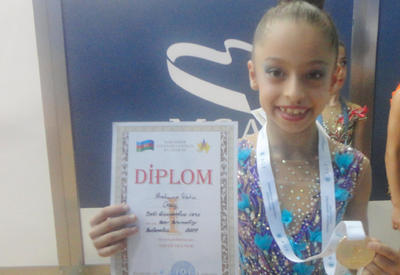 Юная азербайджанская гимнастка Гевхяр Ибрагимова мечтает всегда быть первой