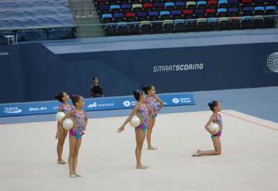 Проходит финальный день XXV Чемпионата Азербайджана и Первенства Баку по художественной гимнастике