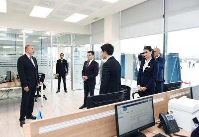 """Президент Ильхам Алиев принял участие в открытии Абшеронского логистического центра <span class=""""color_red"""">- ФОТО</span>"""