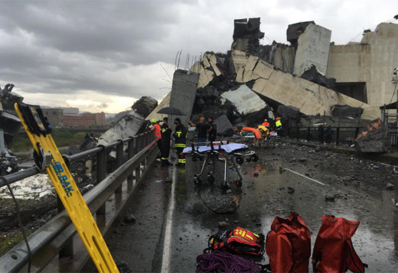 МИД: Среди пострадавших при обрушении моста в Генуе нет азербайджанцев