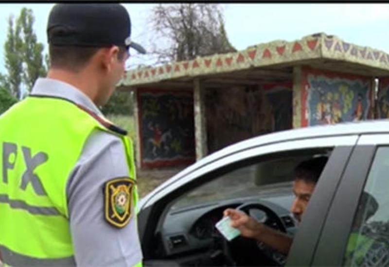 """В Хачмазе задержаны более 50 нарушителей ПДД <span class=""""color_red"""">- ФОТО</span>"""