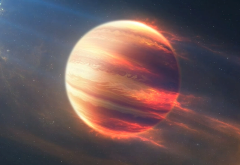 """В атмосфере """"сверхгорячего Юпитера"""" обнаружены следы железа и титана"""