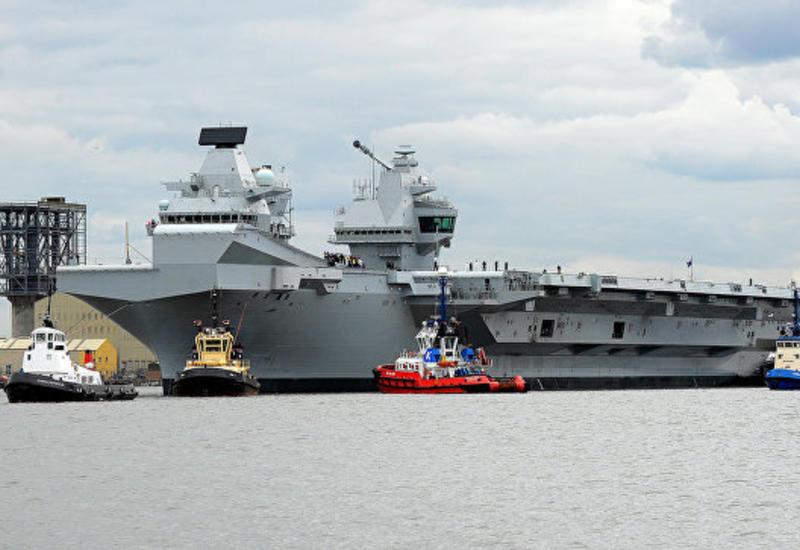 Британский авианосец Queen Elizabeth отправляется в первое плавание в США
