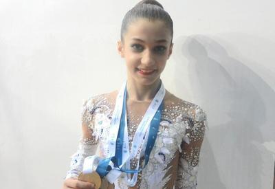 """Юная азербайджанская гимнастка: Рада победе на международном турнире """"GymBala"""""""