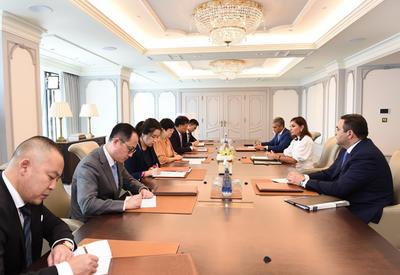 """Первый вице-президент Мехрибан Алиева встретилась с делегацией Китая <span class=""""color_red"""">- ФОТО</span>"""