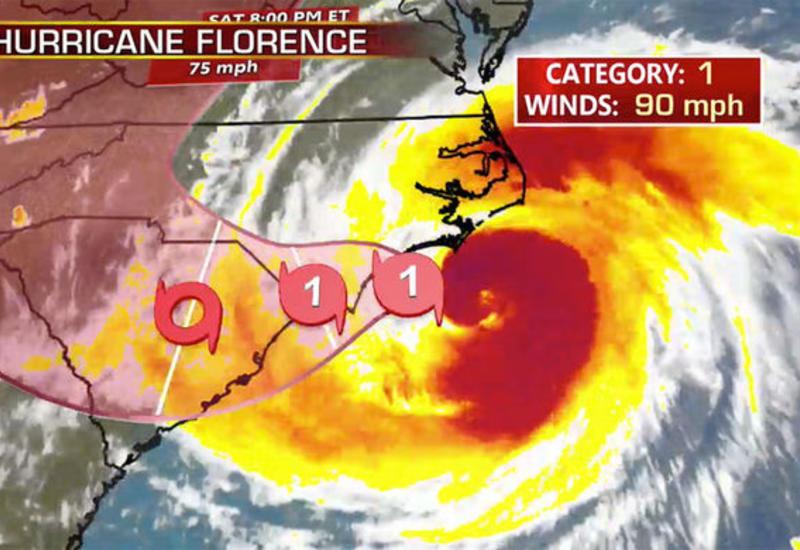 Ураган «Флоренс» ослаб до тропического шторма