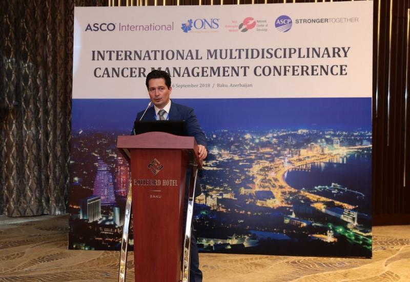 """В Баку проходит международная конференция на тему «Международное мультидисциплинарное лечение рака» span class=""""color_red""""- ФОТО/span"""