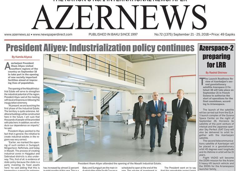 """Вышел очередной печатный номер онлайн-газеты Azernews <span class=""""color_red"""">– ФОТО</span>"""