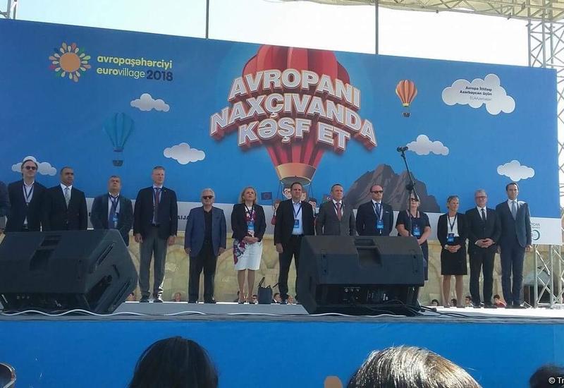 """В Нахчыване состоялось открытие EuroVillage <span class=""""color_red"""">- ФОТО</span>"""
