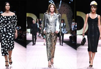 """Моника Беллуччи, Карла Бруни, Хелена Кристенсен и молодые модели на показе Dolce & Gabbana <span class=""""color_red"""">- ФОТО</span>"""