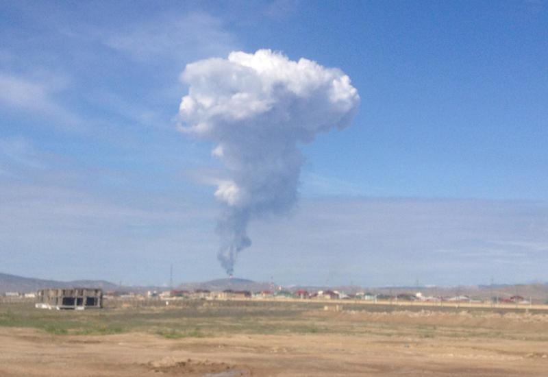 Прекратилось извержение грязевого вулкана в Баку