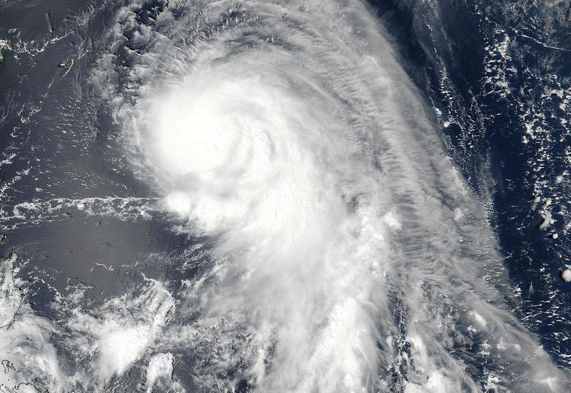 "В Тихом океане набирает силу тайфун ""Трами"""