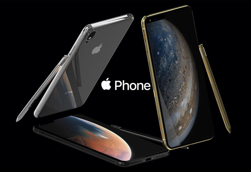 """Представлен концепт iPhone с пятью камерами и """"чёлкой"""" набок"""
