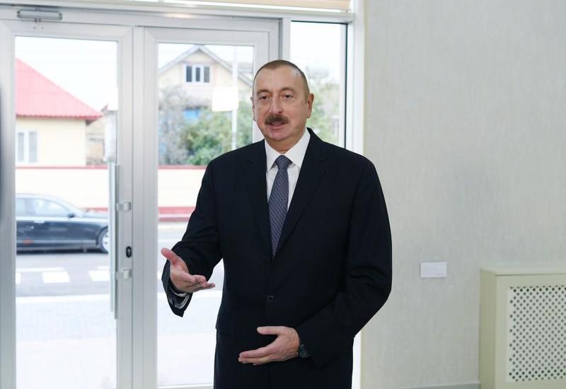 Президент Ильхам Алиев: Поставлена цель реализовать во всех городах Азербайджана на 100 процентов полностью соответствующие стандартам проекты по питьевой воде