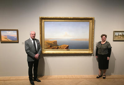 """Картина Куинджи из собрания Национального музея искусств представлена в Третьяковской галерее <span class=""""color_red"""">- ФОТО</span>"""