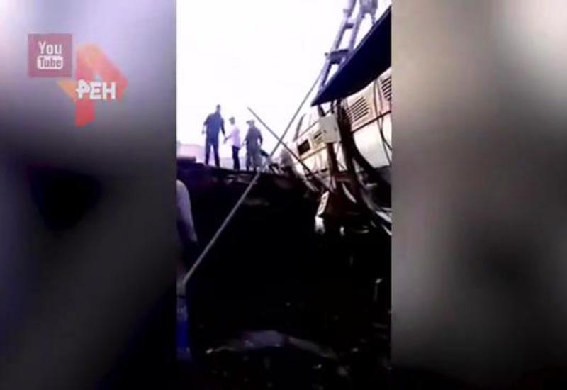 """В Марокко пассажирский поезд сошел с рельсов, есть погибшие и раненые <span class=""""color_red"""">- ВИДЕО</span>"""