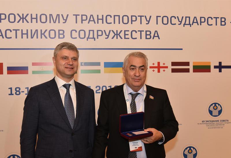 """Джавид Гурбанов награжден медалью «Российских железных дорог» <span class=""""color_red"""">- ФОТО</span>"""