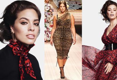 """Как носить самый модный принт сезона? - Показвает модель plus-size Эшли Грэм <span class=""""color_red"""">- ФОТО</span>"""