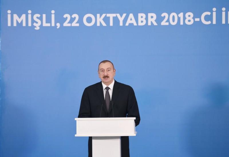 Президент Ильхам Алиев: Открытие нового канала-притока реки Араз придаст еще больший стимул развитию сельского хозяйства