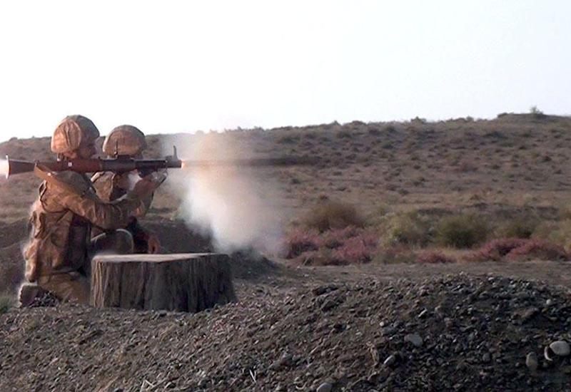 Мотострелковые подразделения ВС Азербайджана провели учения