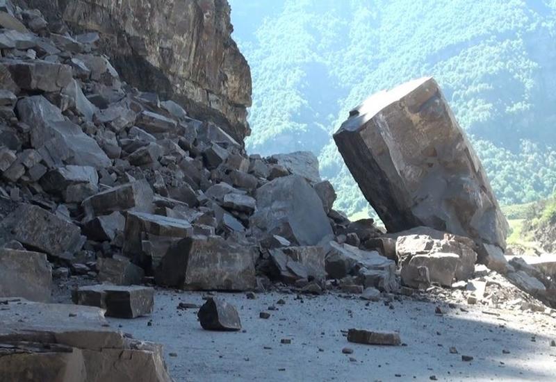 В Дагестане камнепад повредил газопровод