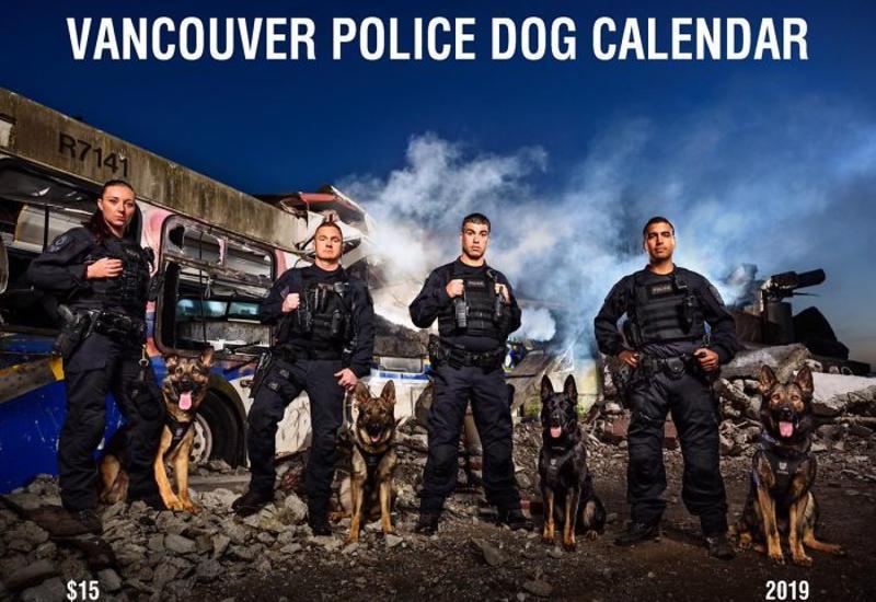 """Календарь с «крутыми» полицейскими собаками вызвал ажиотаж в Сети <span class=""""color_red"""">- ФОТО</span>"""