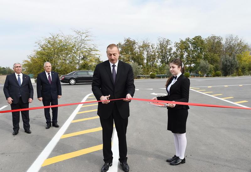 Президент Ильхам Алиев принял участие в открытии автодороги в Агдамском районе