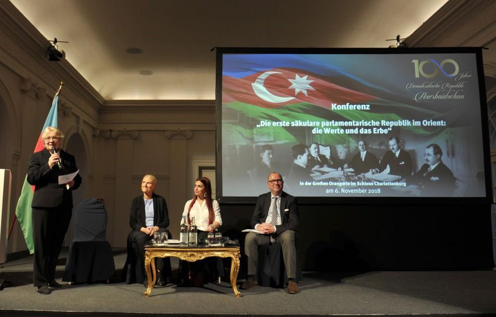 При поддержке Фонда Гейдара Алиева в Берлине прошла научная конференция, посвященная 100-летию АДР