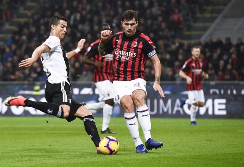 «Ювентус» в гостях обыграл «Милан», Роналду забил гол