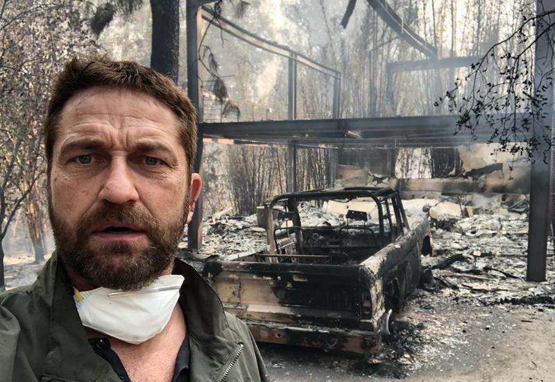 Лесной пожар уничтожил дом Джерарда Батлера
