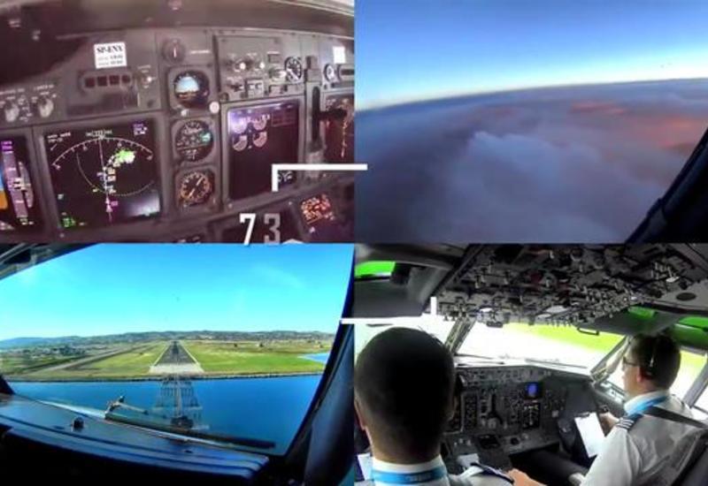 """Посадку самолета в сильную турбулентность сняли на камеры из кабины пилота <span class=""""color_red"""">- ВИДЕО</span>"""