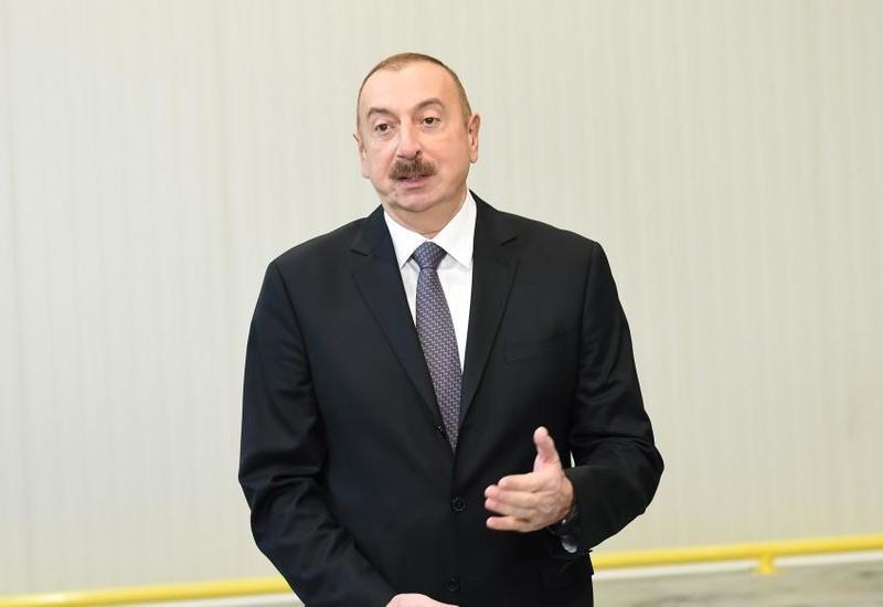 Президент Ильхам Алиев: Пример Сумгайытского химико-промышленного парка демонстрирует успешную промышленную политику Азербайджана