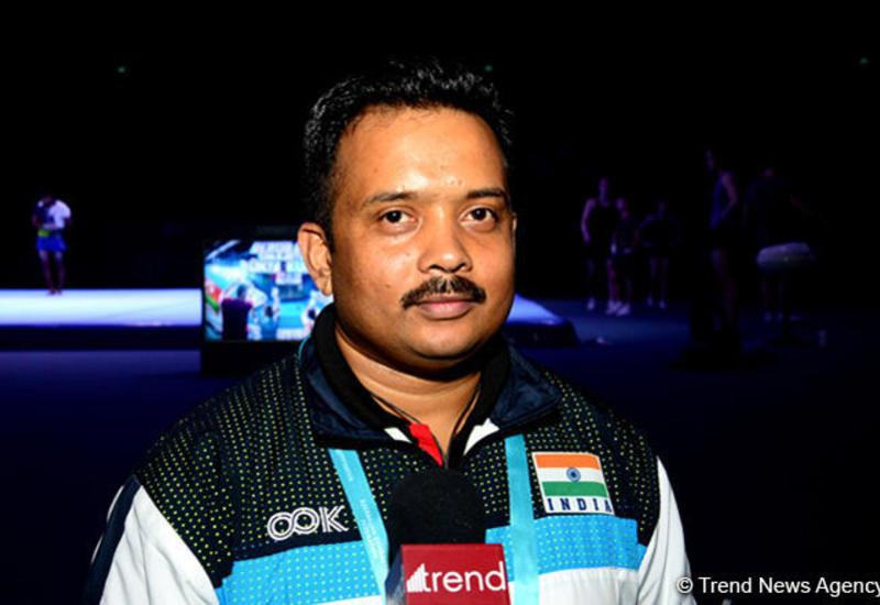 Судья по акробатической гимнастике из Индии восхищен Национальной ареной гимнастики в Баку